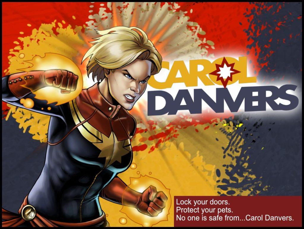 Carol Danvers Destroying Marvel Universe