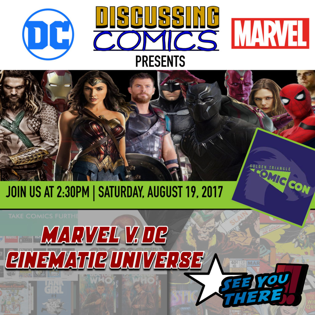 Discussing Comics at 2017 Golden Triangle Comic Con