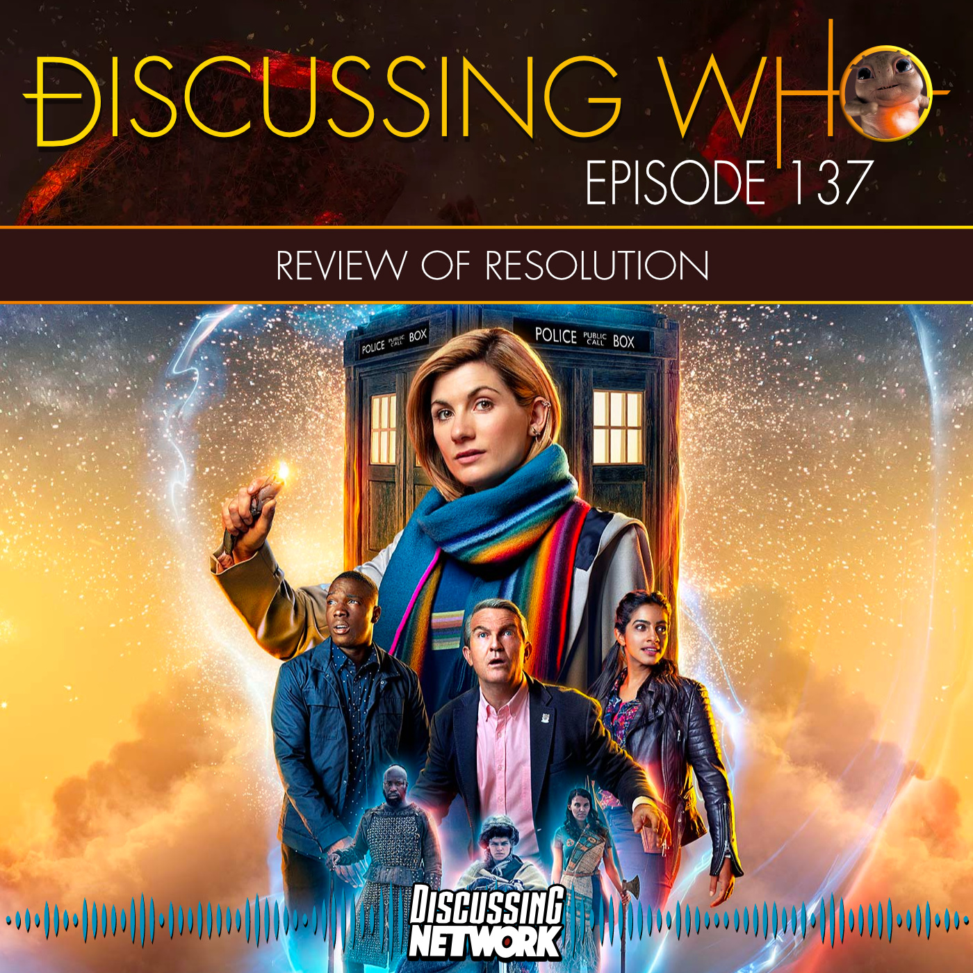 Review of Doctor Who Resolution by Discussing Who Podcast