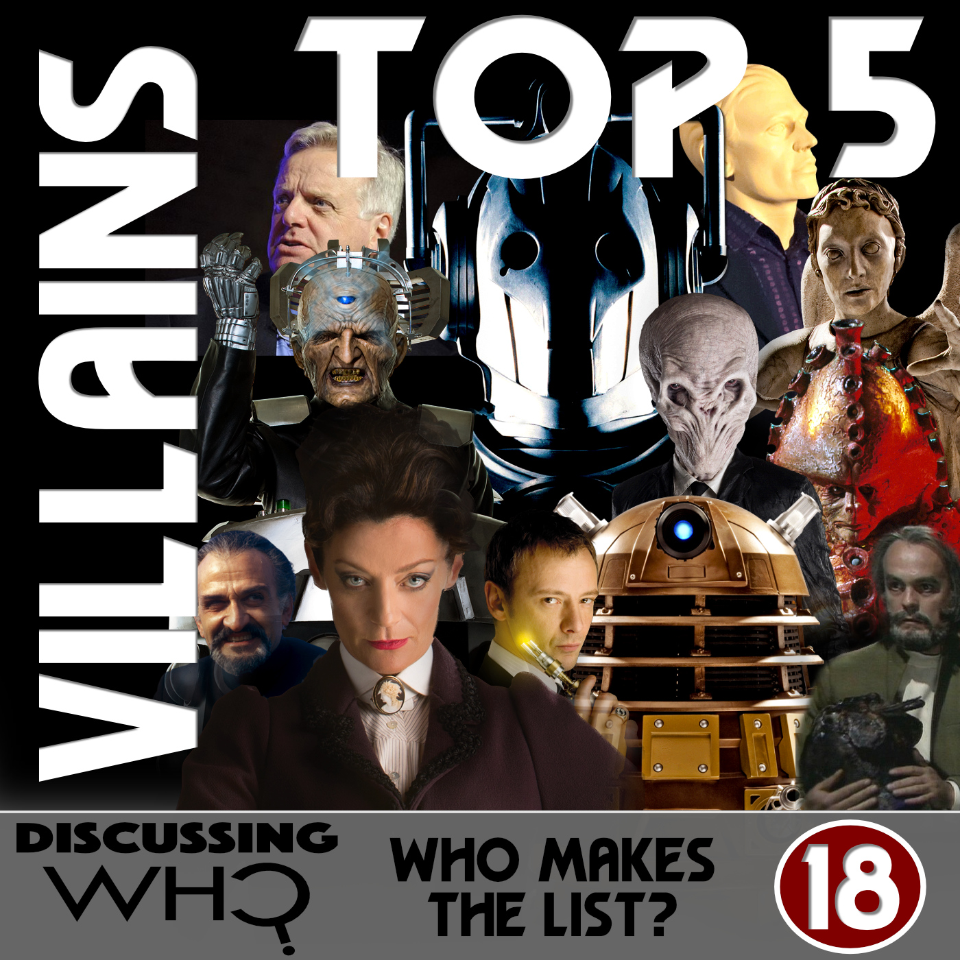 Episode 18: Ranking Our Top 5 Doctor Who Villains | Discussing Who